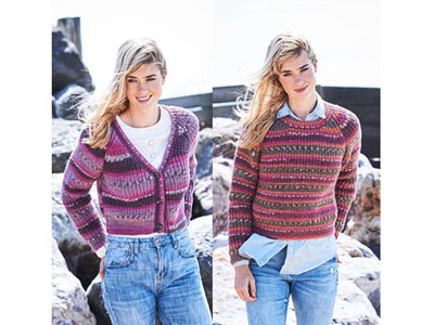 Fisherman's Rib Sweater and Cardigan in Stylecraft Life Heritage