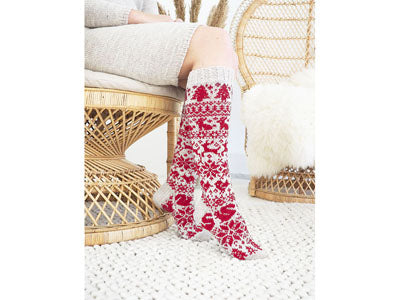 Novita 2019 Christmas Socks Knit-Along in Novita Nalle