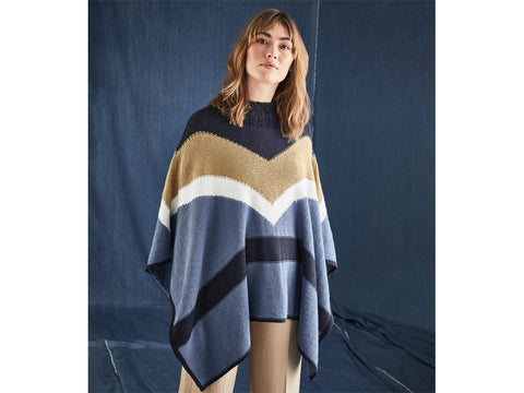 Colourblock Poncho Pattern in Sirdar Yarn (10205)