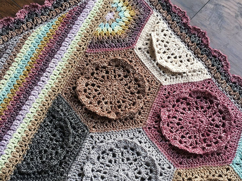 Dutch Rose Blanket Crochet Kit and Pattern in Scheepjes Yarn