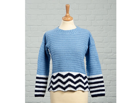 Colourwork Jumper by Fran Morgan in Deramores Studio DK