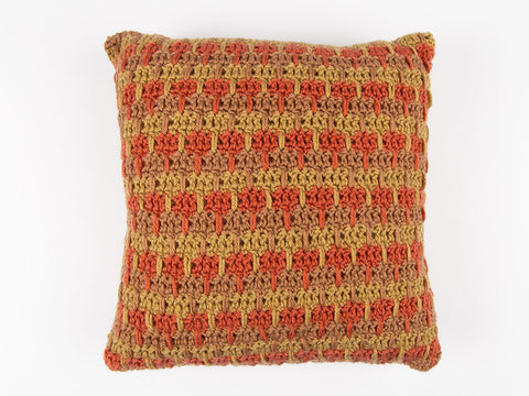 Goblet Stitch Cushion by Val Pierce in Deramores Studio DK