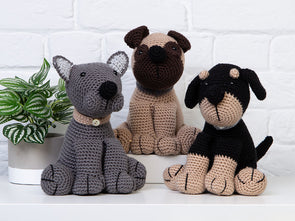 Amigurumi Dera-Dogs Crochet Kit and Pattern