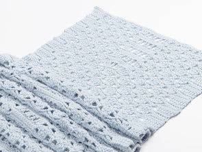 Summer Blues Shawl by HanJan Crochet in James C. Brett It's Pure Cotton