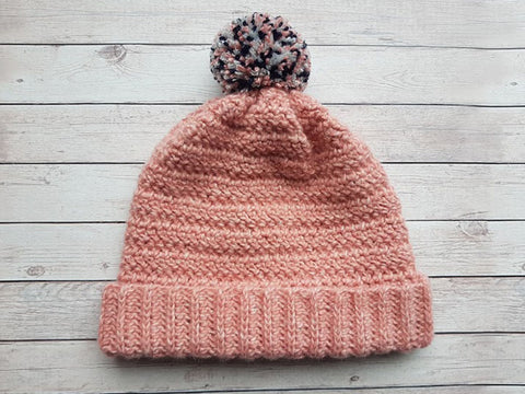 Tweed Stripe Beanie Crochet Kit and Pattern