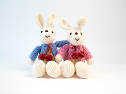 Bunny Buddies Crochet Kit and Pattern in Studio DK