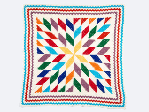 Star Diamond Blanket Crochet Kit and Pattern