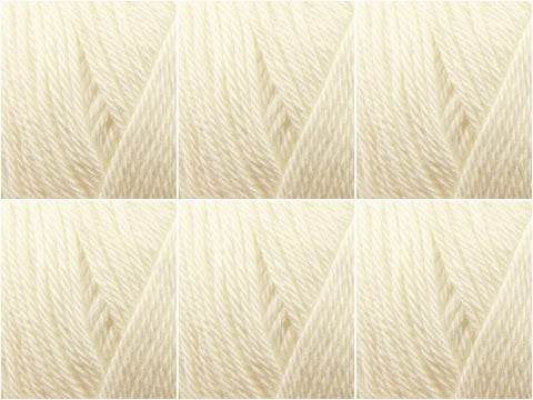 Sirdar Cotton DK - 6 Ball Value Pack - Mill White