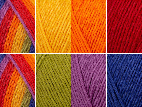 Technicolour Colour Pack in West Yorkshire Spinners ColourLab DK