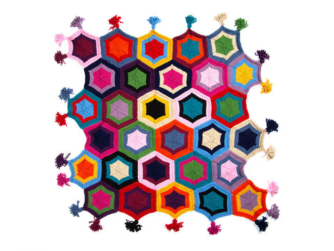 Hexagon Blanket by Nicola Valiji in Deramores Studio Chunky