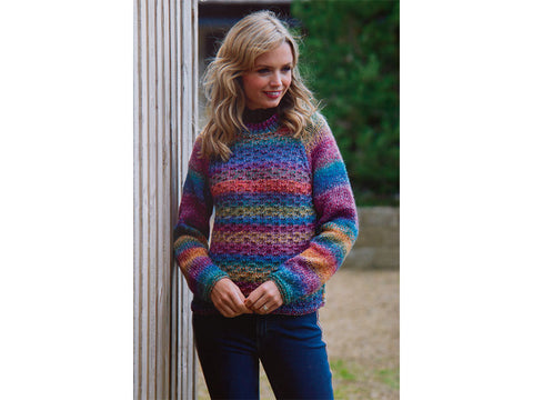 Ladies Sweater in James C. Brett Marble Chunky (JB553)