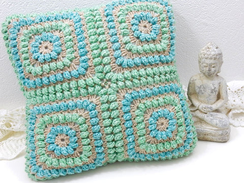 Squishy Popcorn Cushion by TheCurioCraftsRoom in Scheepjes Merino Soft Brush