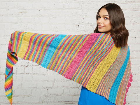 Crochet Now Candy Bars Shawl in West Yorkshire Spinners Signature 4 Ply