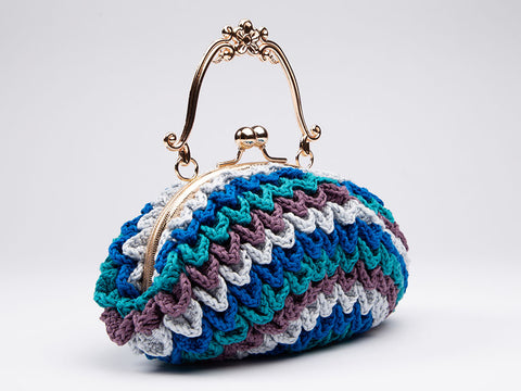 Jewelled Leaves Bag Crochet Kit and Pattern in Rico Design Yarn