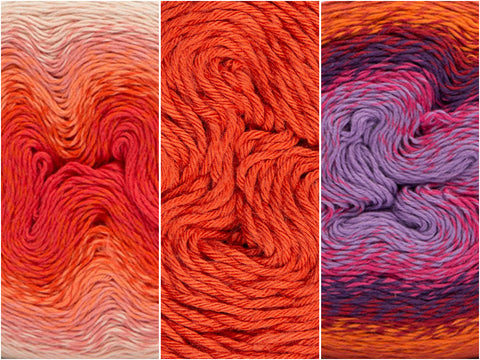 Blood Orange Colour Pack in Scheepjes Whirl & Whirlette