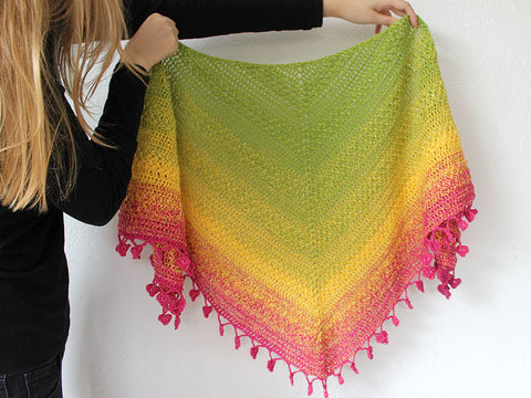 Lovely Luisa Shawl Crochet Kit and Pattern in Scheepjes Yarn