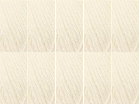 Stylecraft Classique Cotton DK - 10 Ball Value Pack - White