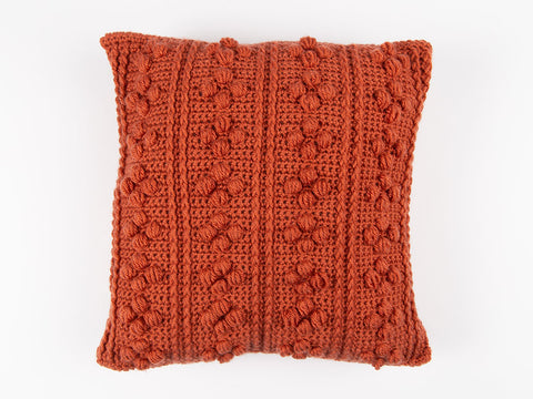 Bobble Ridge Cushion by Val Pierce in Deramores Studio DK