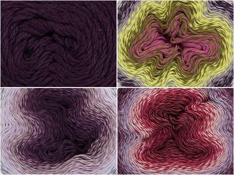 Frosted Grape Colour Pack in Scheepjes Whirl & Whirlette