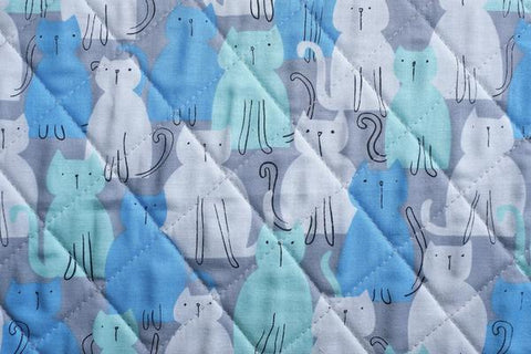 Hobby and Gift Classic Craft Bag - Blue Modern Kitty