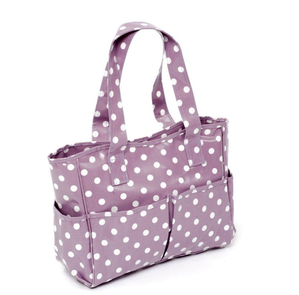 Hobbygift PVC Craft Bag - Mauve Spot