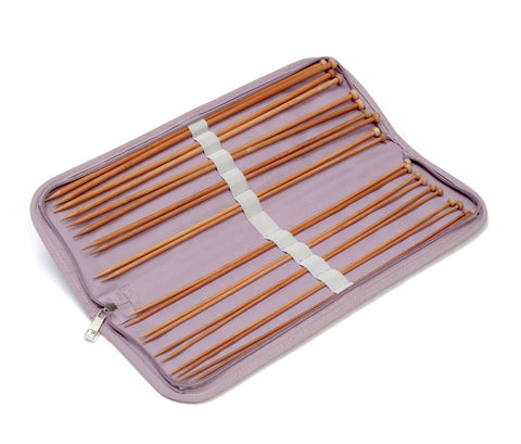 Hobbygift Knitting Needle Case - Mauve Spot (Filled)-Deramores