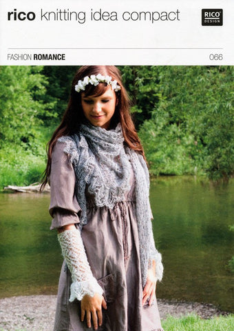 Lace Cuffs and Lace Triangular Shawl in Rico Design Fashion Romance (066)-Deramores