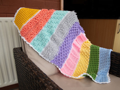 Sensory Stripe Baby Blanket Crochet Kit and Pattern