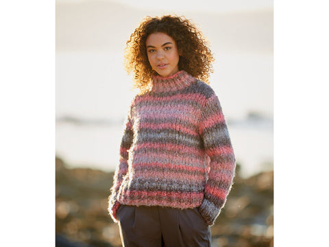 Boxy Sweater in Sirdar Mystical (10040S)