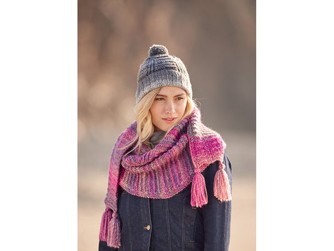 Textured Hat & Scarf in Hayfield Bonanza (10048S)