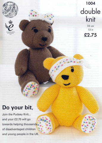 Pudsey and Girl Bear in King Cole DK (1004)