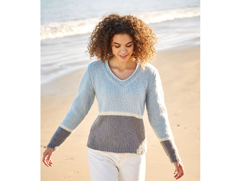 Three-Colour Sweater in Sirdar Girlfriend (10052S)