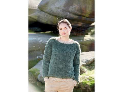 Ladies Jumper in Sirdar Alpine & Sirdar Country Classic (10059)