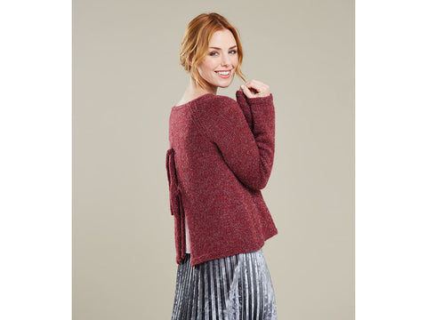 Ladies Jumper with Back Detail in Sirdar Soiree (10069S)