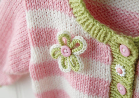 Cardigan in Deramores Baby DK (1006) Digital Version-Deramores