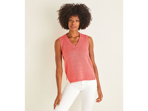 Women's Top in Sirdar Cotton DK (10113S)