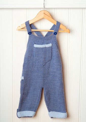 Dungarees in Deramores Baby DK (1012) Digital Version-Deramores