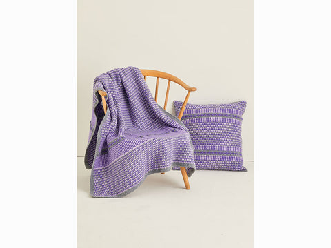 Blanket & Cushion in Hayfield Bonus Aran (10123S)