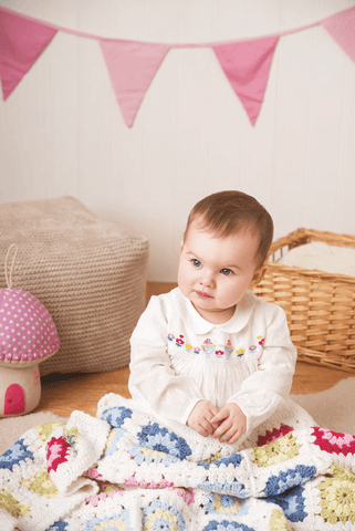 Deramores Studio DK Baby Girl Colour Pack with 'Crochet Blankets in Deramores DK 1018'
