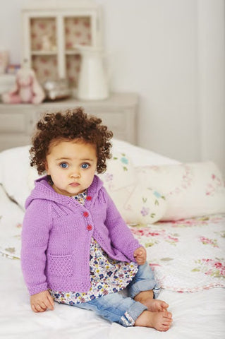 Girls Cardigans in Deramores Baby DK (1019) – Digital Version-Deramores