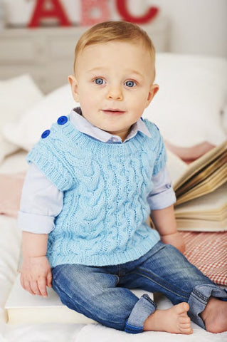 Sweater and Tank Top in Deramores Baby DK (1021) - Digital Version