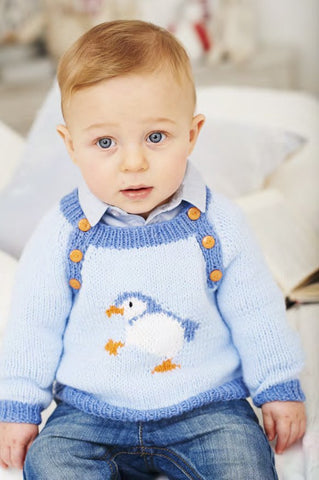 Penguin Sweaters in Deramores Baby DK (1024) - Digital Version