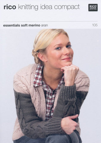 Cabled Cardigan in Rico Design Essentials Soft Merino Aran (105)-Deramores