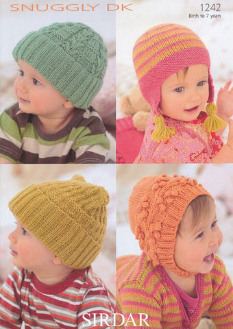Baby's & Child's Hats in Sirdar Snuggly DK (1242)-Deramores