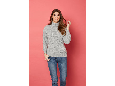 Knit Now Sycamore Turtleneck in Cygnet Aran