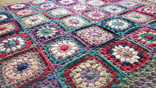 Deramores Flower Power Blanket CAL