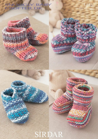 Bootees, Shoes & Boots In Sirdar Snuggly Baby Crofter DK (1483)-Deramores