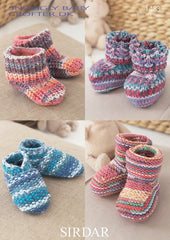Bootees, Shoes & Boots In Sirdar Snuggly Baby Crofter DK (1483)