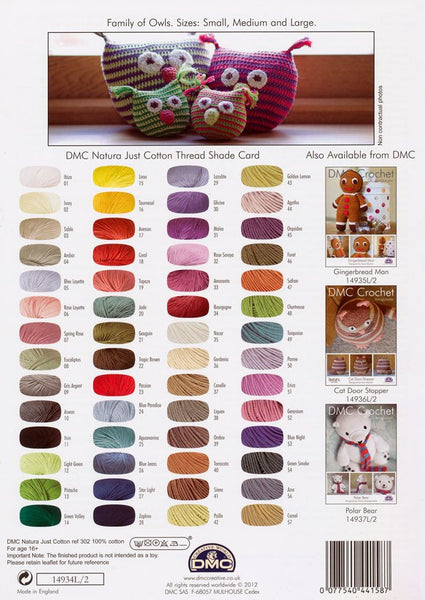 DMC Crochet Family of Owls (14934L/2)-Deramores