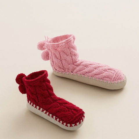 Children's Cable Slipper Socks in Bergere de France Sport (676.01)-Deramores